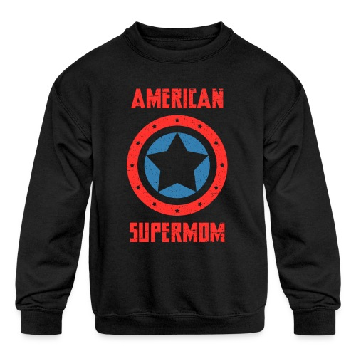 American Supermom - Kids' Crewneck Sweatshirt
