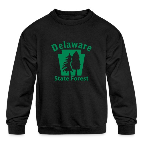 Delaware State Forest Keystone (w/trees) - Kids' Crewneck Sweatshirt