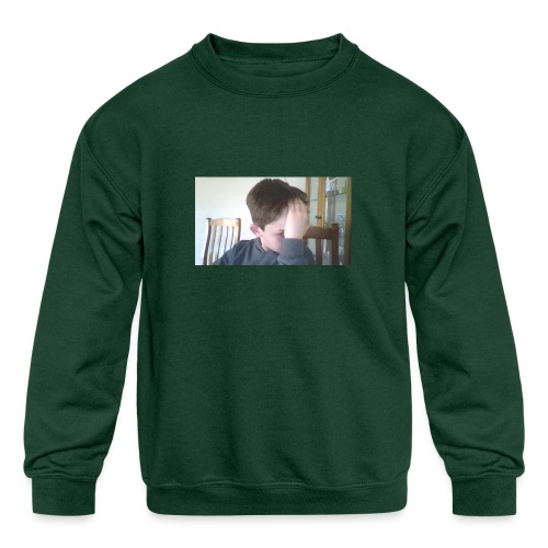 Luiz FAce!! - Kids' Crewneck Sweatshirt