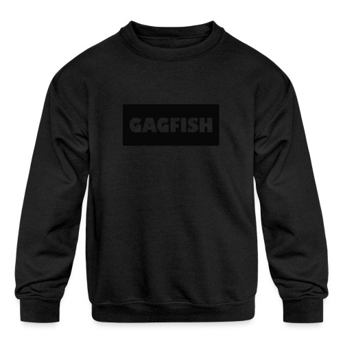 GAGFISH BLACK LOGO - Kids' Crewneck Sweatshirt