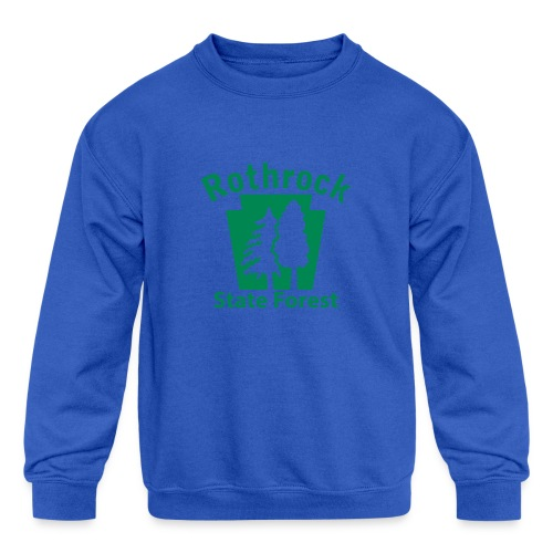 Rothrock State Forest Keystone (w/trees) - Kids' Crewneck Sweatshirt