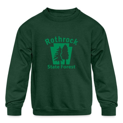 Rothrock State Forest Keystone (w/trees) - Kids' Crewneck Sweatshirt