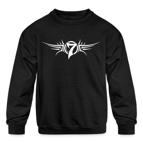 MayheM-7 Tattoo Logo White - Kids' Crewneck Sweatshirt