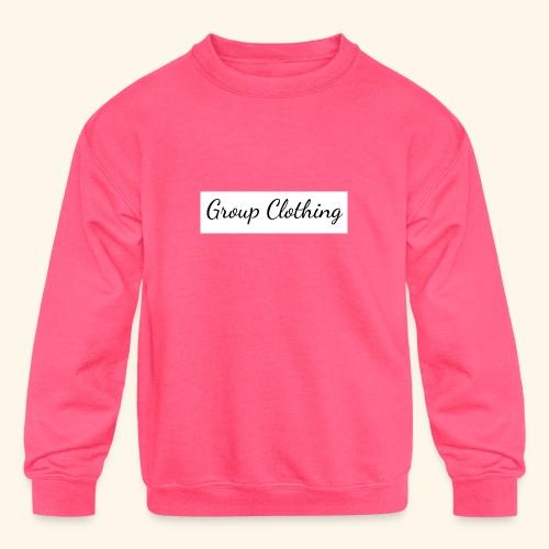 Cursive Black and White Hoodie - Kids' Crewneck Sweatshirt