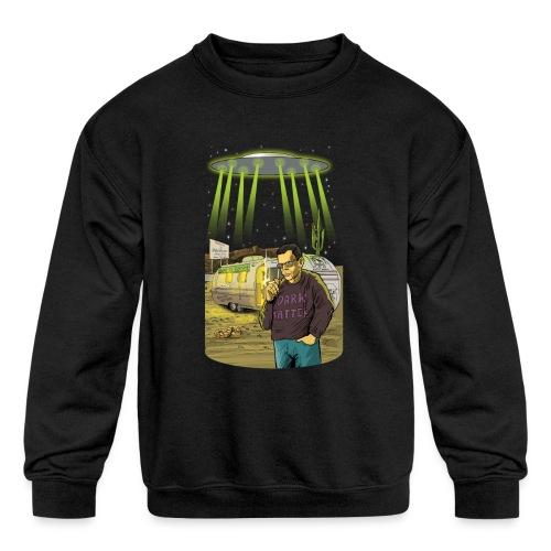 Art Bell Coast to Coast UFO Sighting - Kids' Crewneck Sweatshirt
