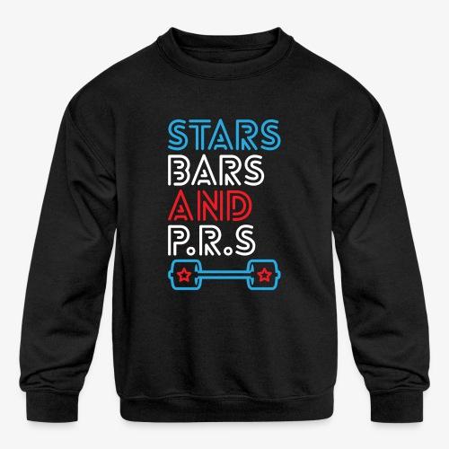 Stars, Bars And PRs - Kids' Crewneck Sweatshirt