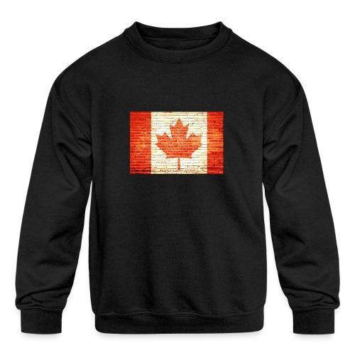 Canada flag - Kids' Crewneck Sweatshirt