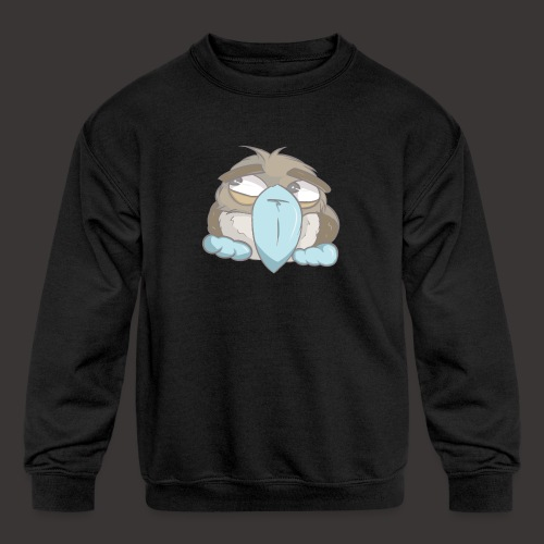 Cute Boobie Bird - Kids' Crewneck Sweatshirt