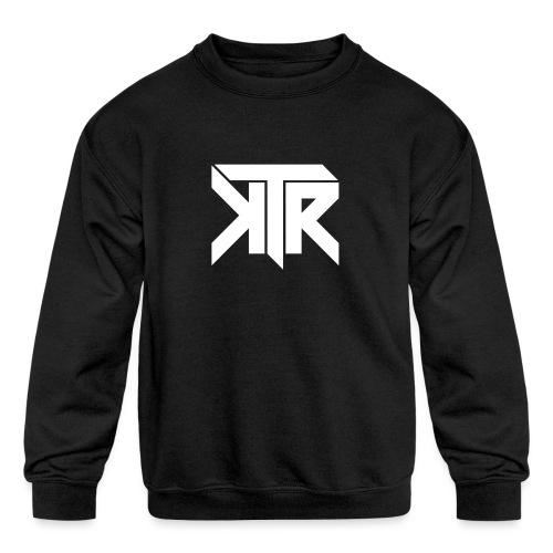 KTR Logo White - Kids' Crewneck Sweatshirt
