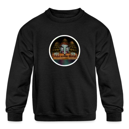 Troll House Games Logo - Kids' Crewneck Sweatshirt