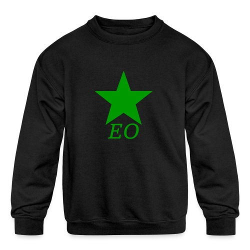 EO and Green Star - Kids' Crewneck Sweatshirt