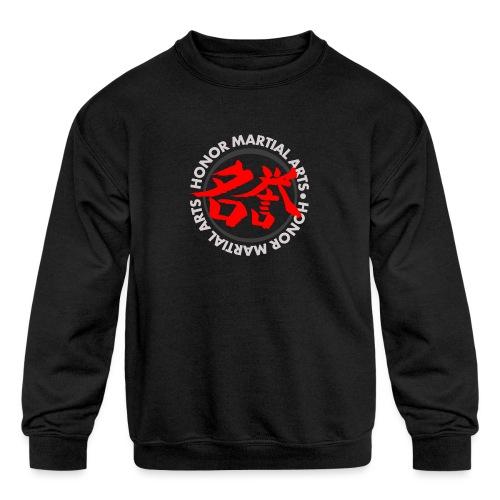 Honor Martial Arts Kanji Design Light Shirts - Kids' Crewneck Sweatshirt