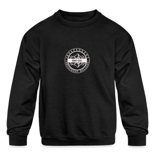 ISO Co. White Classic Emblem - Kids' Crewneck Sweatshirt