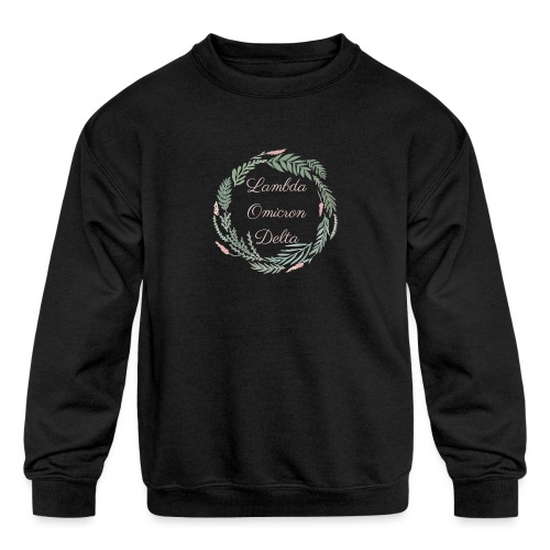 LOD Flower Wreath 1 - Kids' Crewneck Sweatshirt