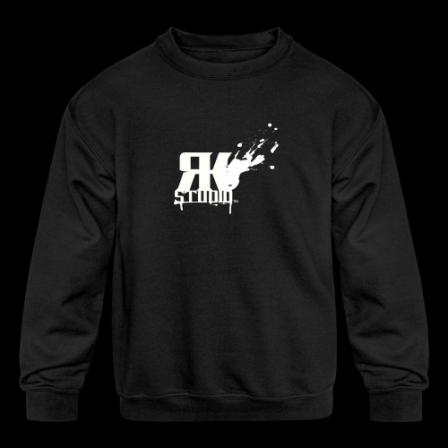 RKStudio White Logo Version - Kids' Crewneck Sweatshirt