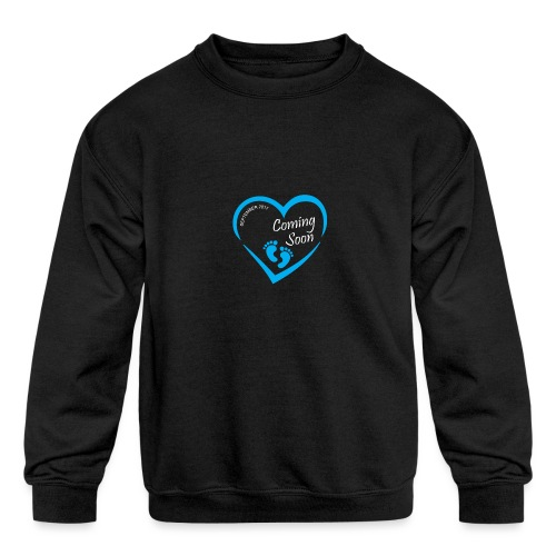 Baby coming soon - Kids' Crewneck Sweatshirt