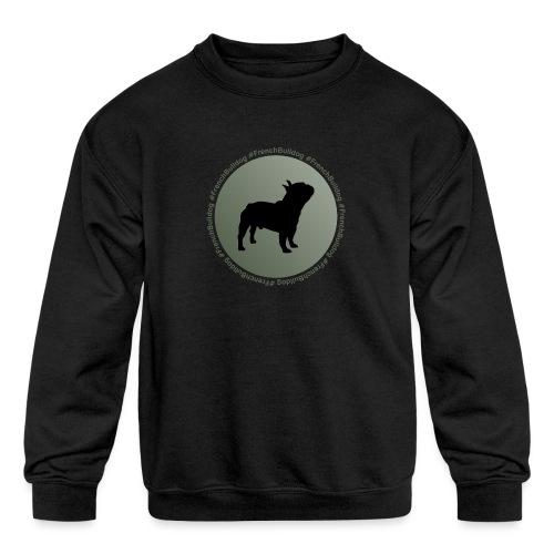French Bulldog - Kids' Crewneck Sweatshirt
