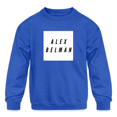 Alex Belman Logo - Kids' Crewneck Sweatshirt