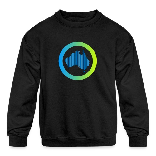 Gradient Symbol Only - Kids' Crewneck Sweatshirt