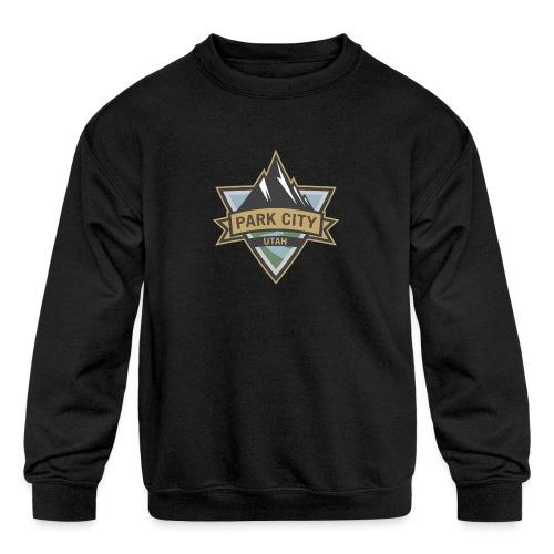 Park City, Utah - Kids' Crewneck Sweatshirt