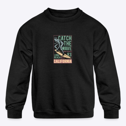 Catch The Wave - Kids' Crewneck Sweatshirt