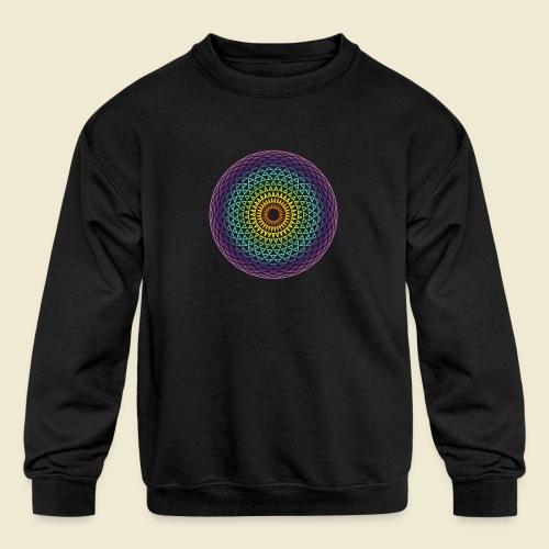 Torus Yantra Hypnotic Eye rainbow - Kids' Crewneck Sweatshirt