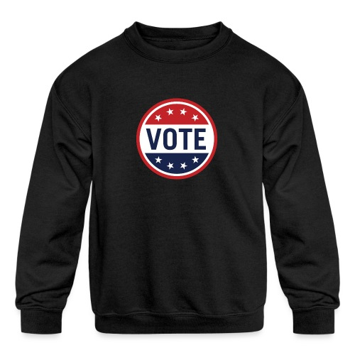 Vote Red, White and Blue with Stars - Kids' Crewneck Sweatshirt