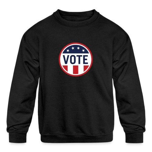 Vote Red White and Blue Stars and Stripes - Kids' Crewneck Sweatshirt