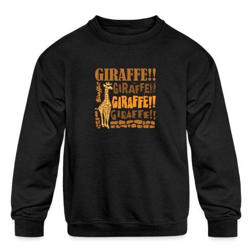 Giraffe!! - Kids' Crewneck Sweatshirt