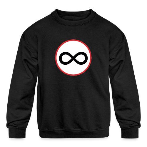 Infinity sign red circle - Kids' Crewneck Sweatshirt
