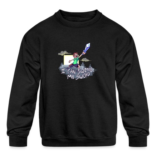 I Can Swing My Sword - Kids' Crewneck Sweatshirt