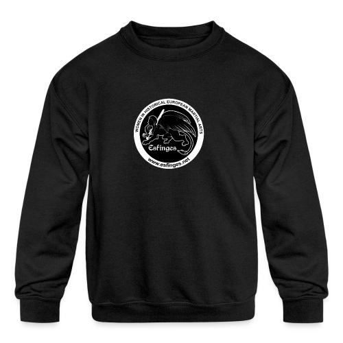 Esfinges Logo Black - Kids' Crewneck Sweatshirt