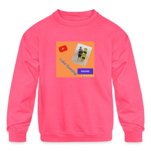 Luke Gaming T-Shirt - Kids' Crewneck Sweatshirt