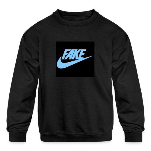 fake Nikes - Kids' Crewneck Sweatshirt