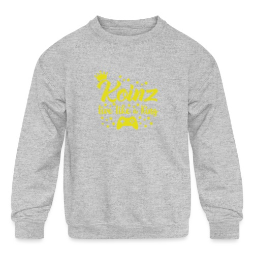 Live Like A King - Kids' Crewneck Sweatshirt