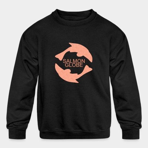 Salmon Globe - Kids' Crewneck Sweatshirt