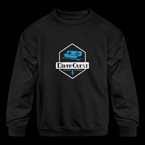 DivanQuest Logo (Badge) - Kids' Crewneck Sweatshirt