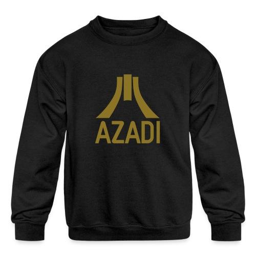 Azadi retro stripes - Kids' Crewneck Sweatshirt