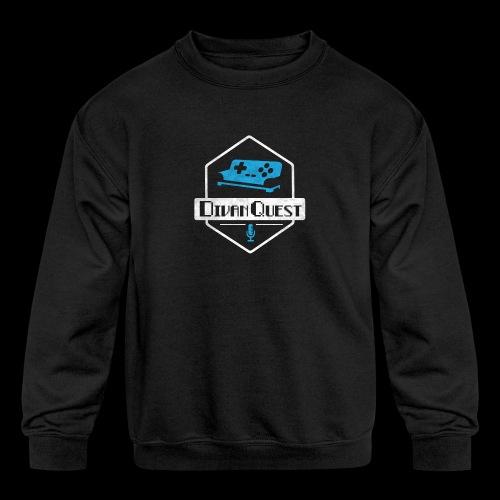 DivanQuest Logo (Badge) - Kids' Crewneck Sweatshirt