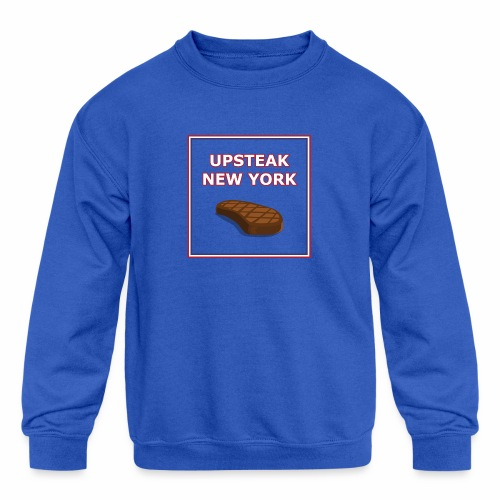 Upsteak New York | July 4 Edition - Kids' Crewneck Sweatshirt