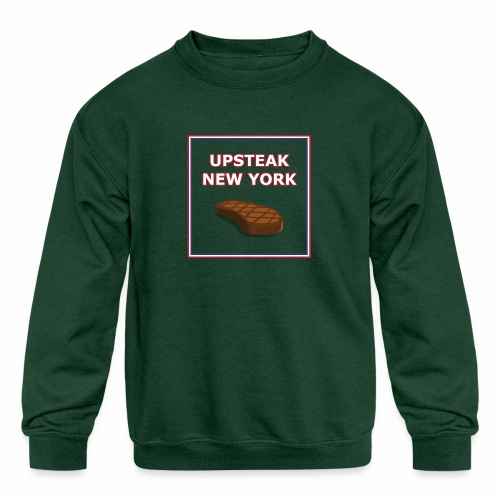 Upsteak New York | July 4 Edition - Kids' Crewneck Sweatshirt