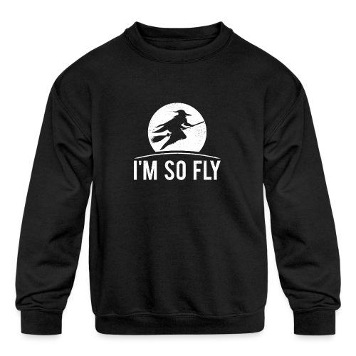 Happy Halloween - I'm so fly - Kids' Crewneck Sweatshirt