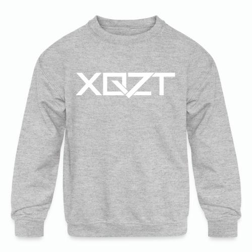 #XQZT Logo Snow White - Kids' Crewneck Sweatshirt