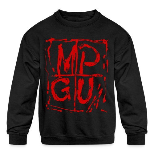 MPGU RED STROKE - Kids' Crewneck Sweatshirt