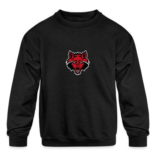 Red Wolf - Kids' Crewneck Sweatshirt