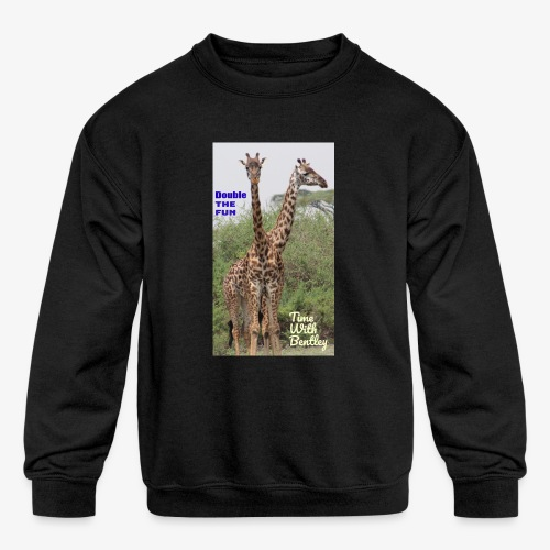 Two Headed Giraffe - Kids' Crewneck Sweatshirt