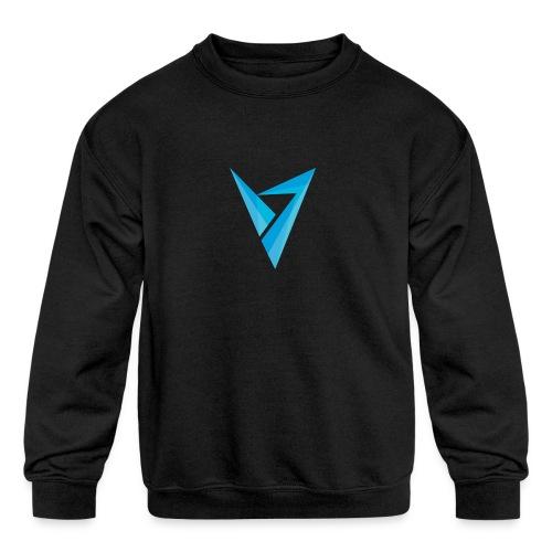 v logo - Kids' Crewneck Sweatshirt