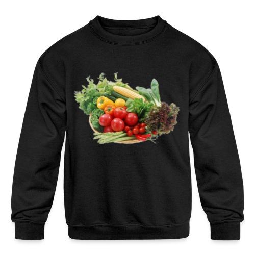 vegetable fruits - Kids' Crewneck Sweatshirt