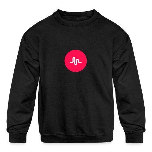Musical.ly logo - Kids' Crewneck Sweatshirt