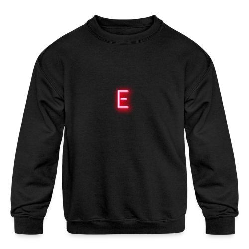 Neon E - Kids' Crewneck Sweatshirt